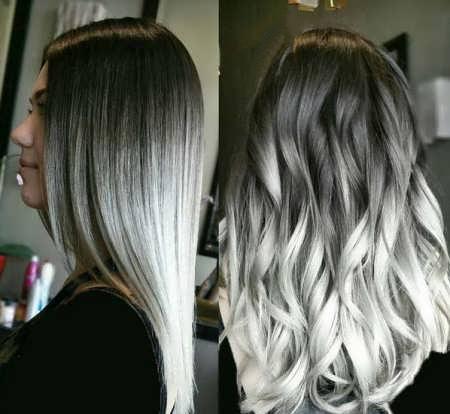 رنگ موی دودی روشن بدون دکلره
