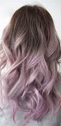 Hair color Silver Rose