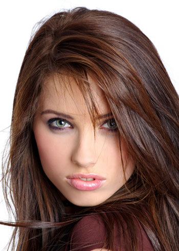 dark brown hair with caramel and red highlights 1