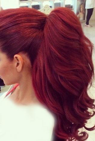 رنگ موی آلبالویی